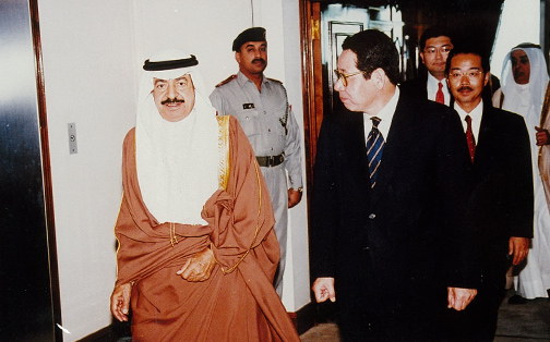 One of frequent visits to the Middle East to facilitate petrodollars.