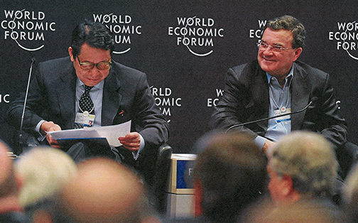 Co-chairing an annual meeting of the World Economic Forum in Davos.
